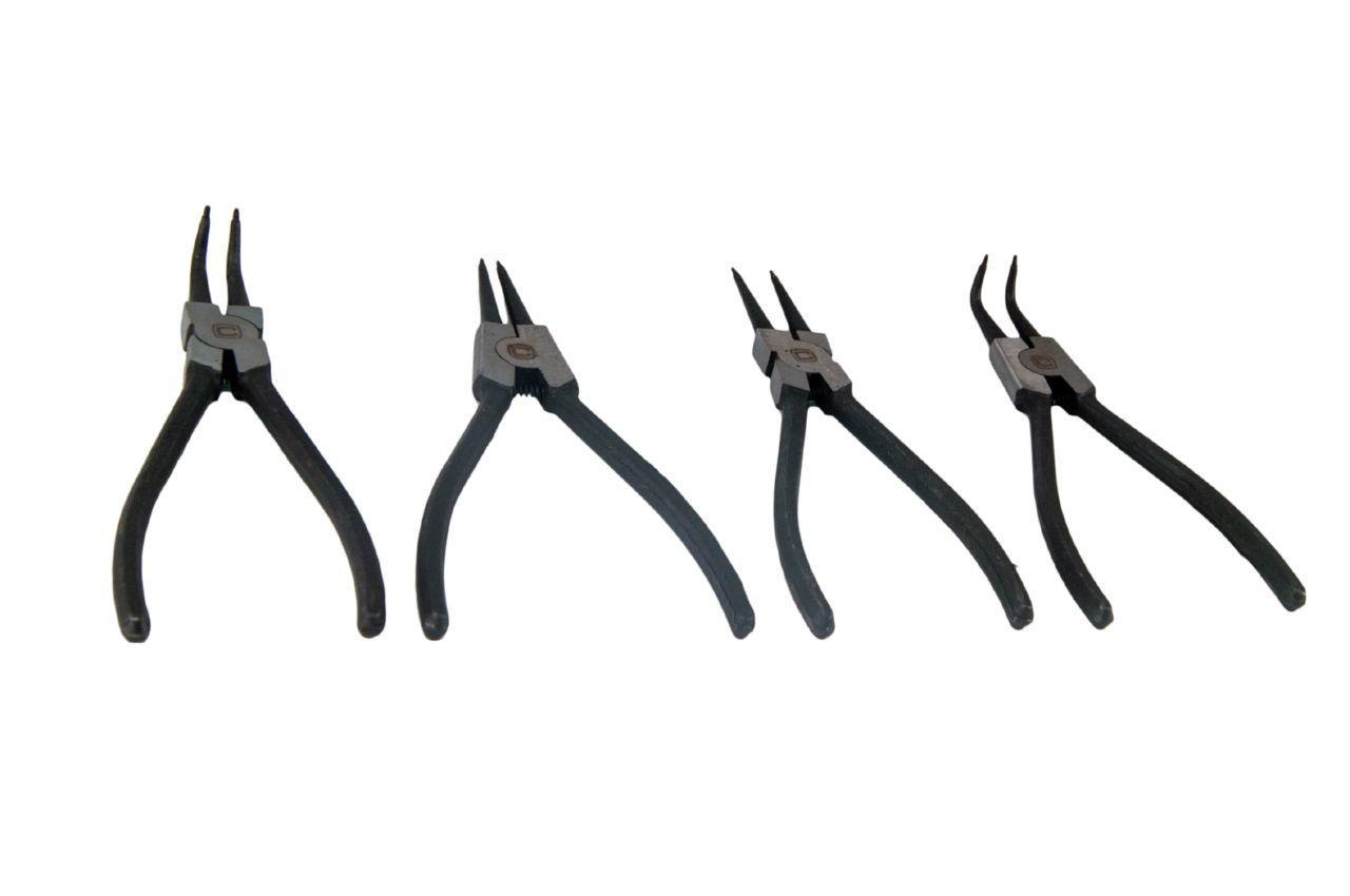 Набор щипцов для стопорных колец Сила - 175 мм (4 шт.)