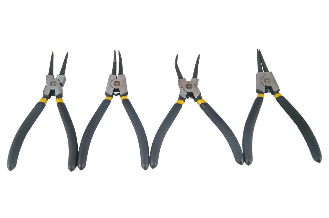 Набор щипцов для стопорных колец Сила - 175 мм (4 шт.) PROF