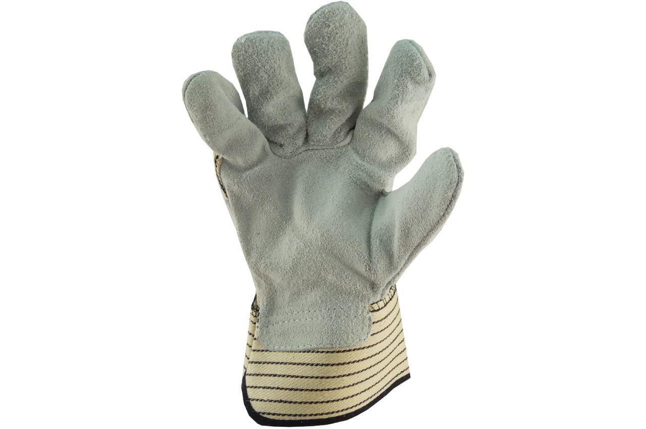 Перчатки Сила - замшевые комбинированные, цельная ладонь 10,5