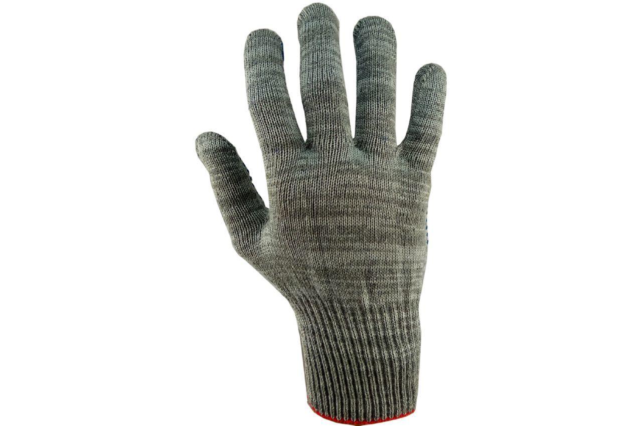 "Перчатки PRC - х/б серая с точкой 10"" 12 шт."