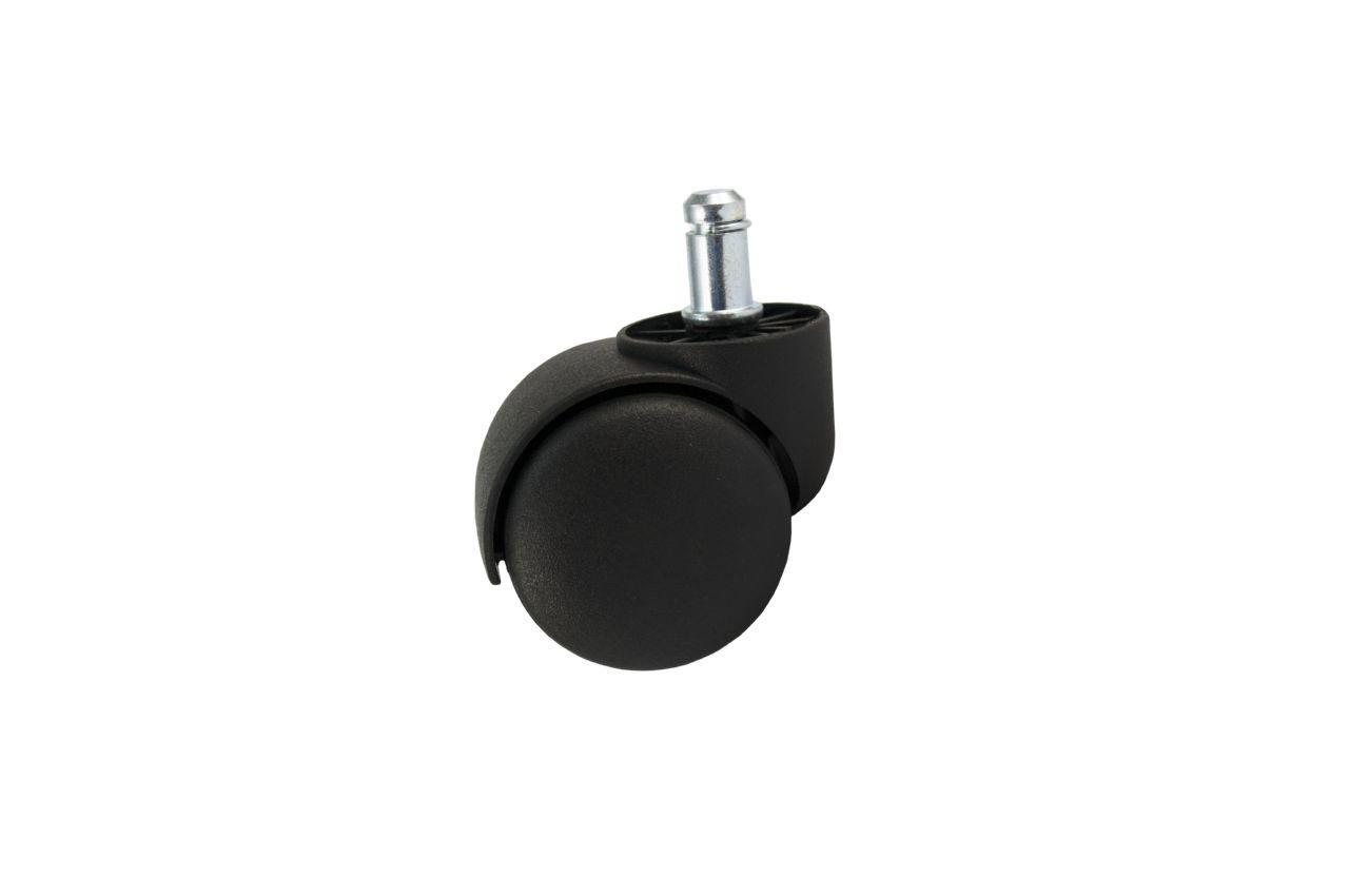 Опора колесная FZB - 50 мм, со штырем (11 мм) черная, 3-005
