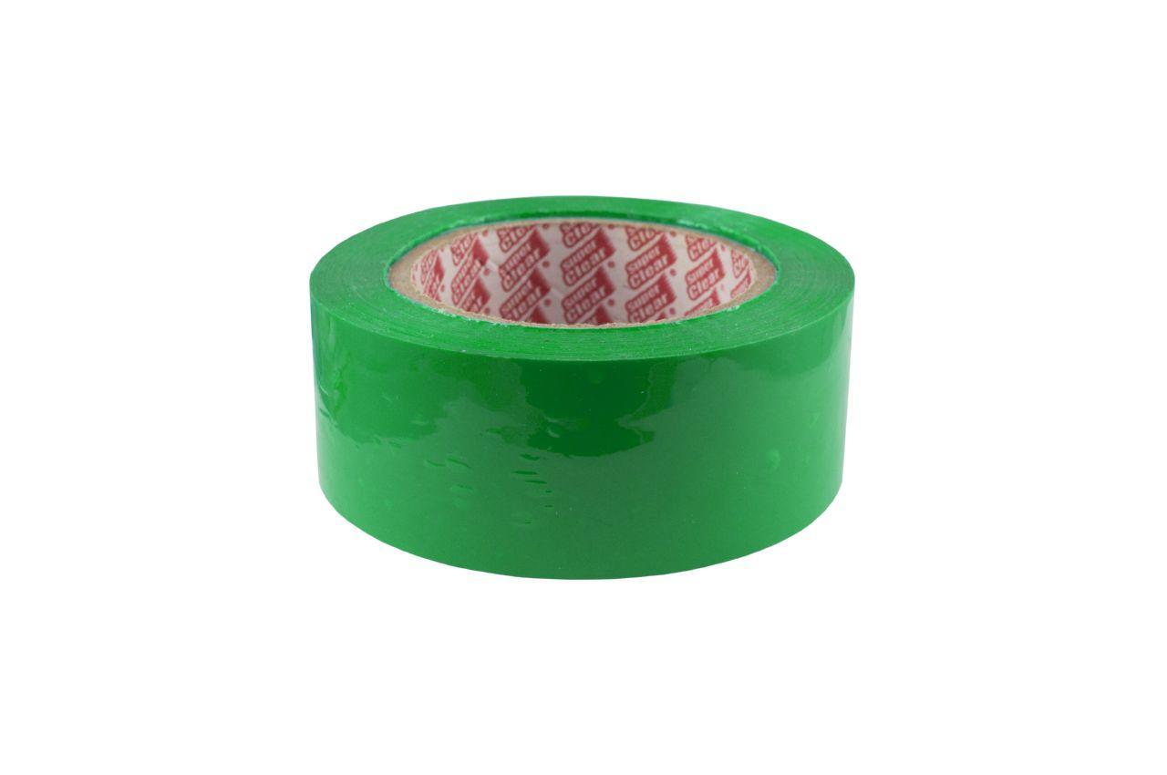 Скотч Super Clear - 48 мм x 160 м, зеленый
