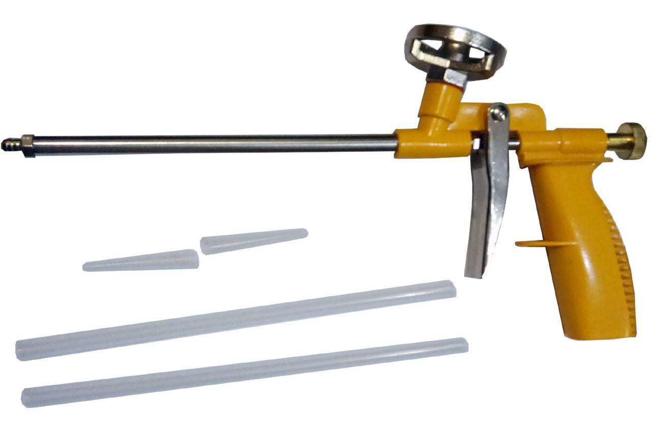 Пистолет для пены Сила - 290 мм, никель