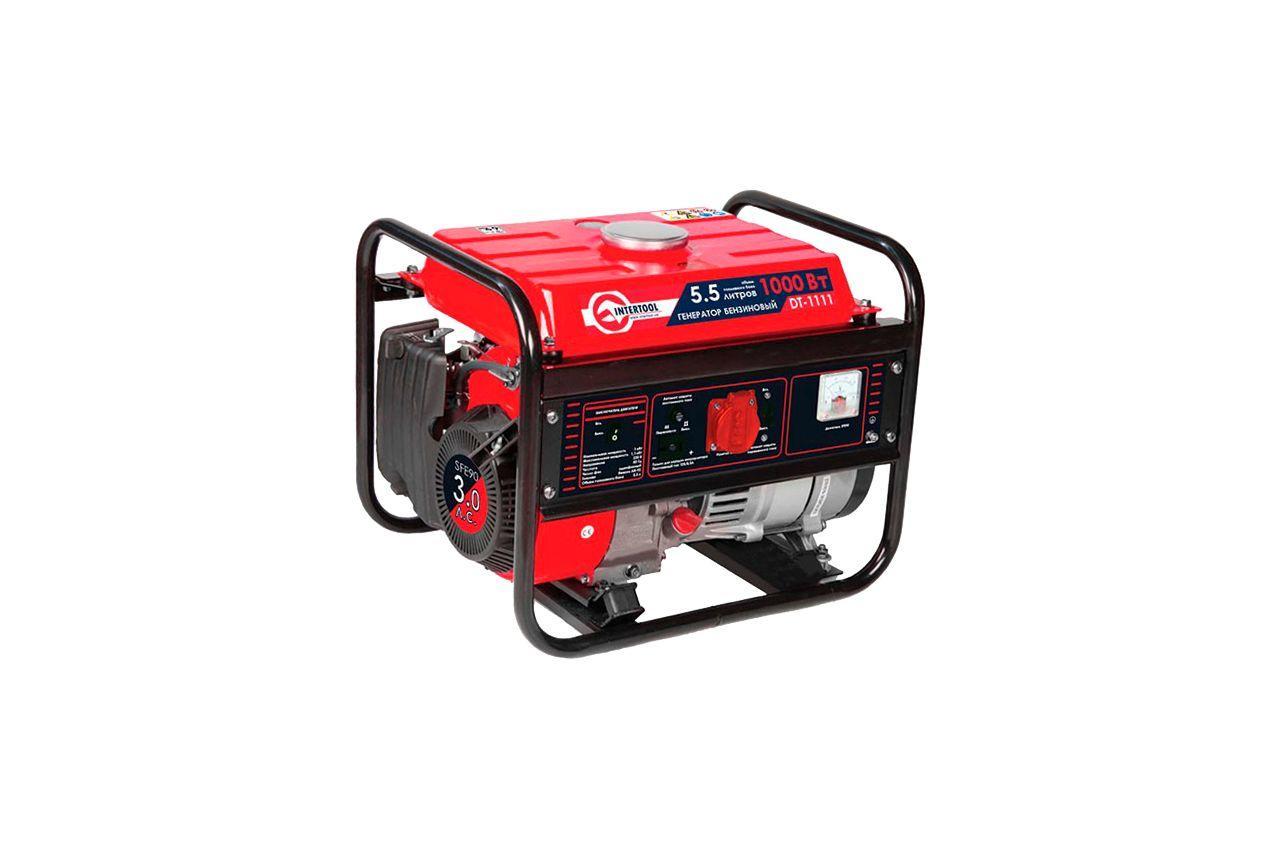 Генератор бензиновый Intertool - 1 кВт, DT-1111