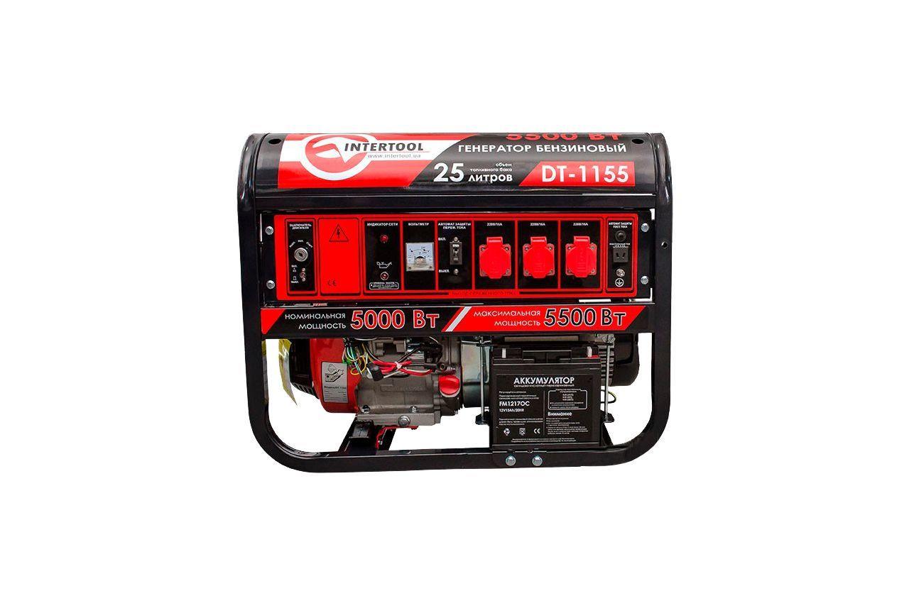 Генератор бензиновый Intertool - 5,5 кВт