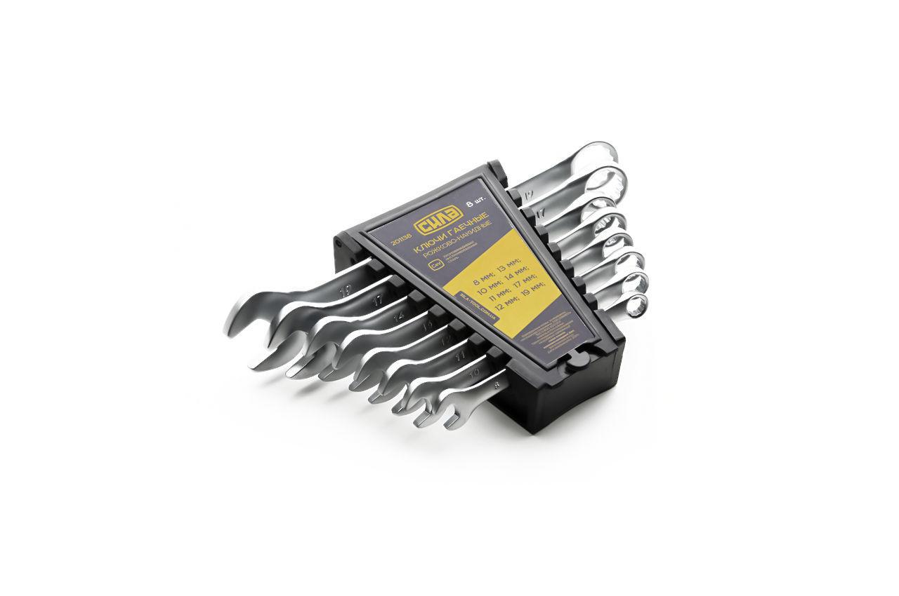 Набор рожково-накидных ключей Сила - 8 шт. (6-19 мм)