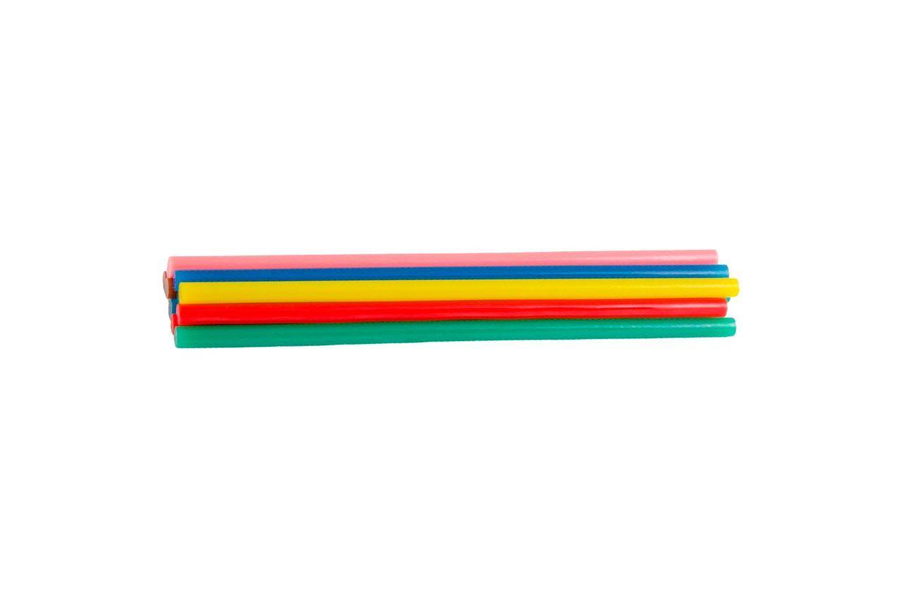 Клеевые стержни Mastertool - 7,2 x 200 мм, цветные (12 шт.)