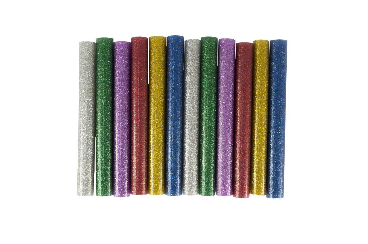 Клеевые стержни Mastertool - 11,2 x 100 мм, цветные перламутровые (12 шт.)