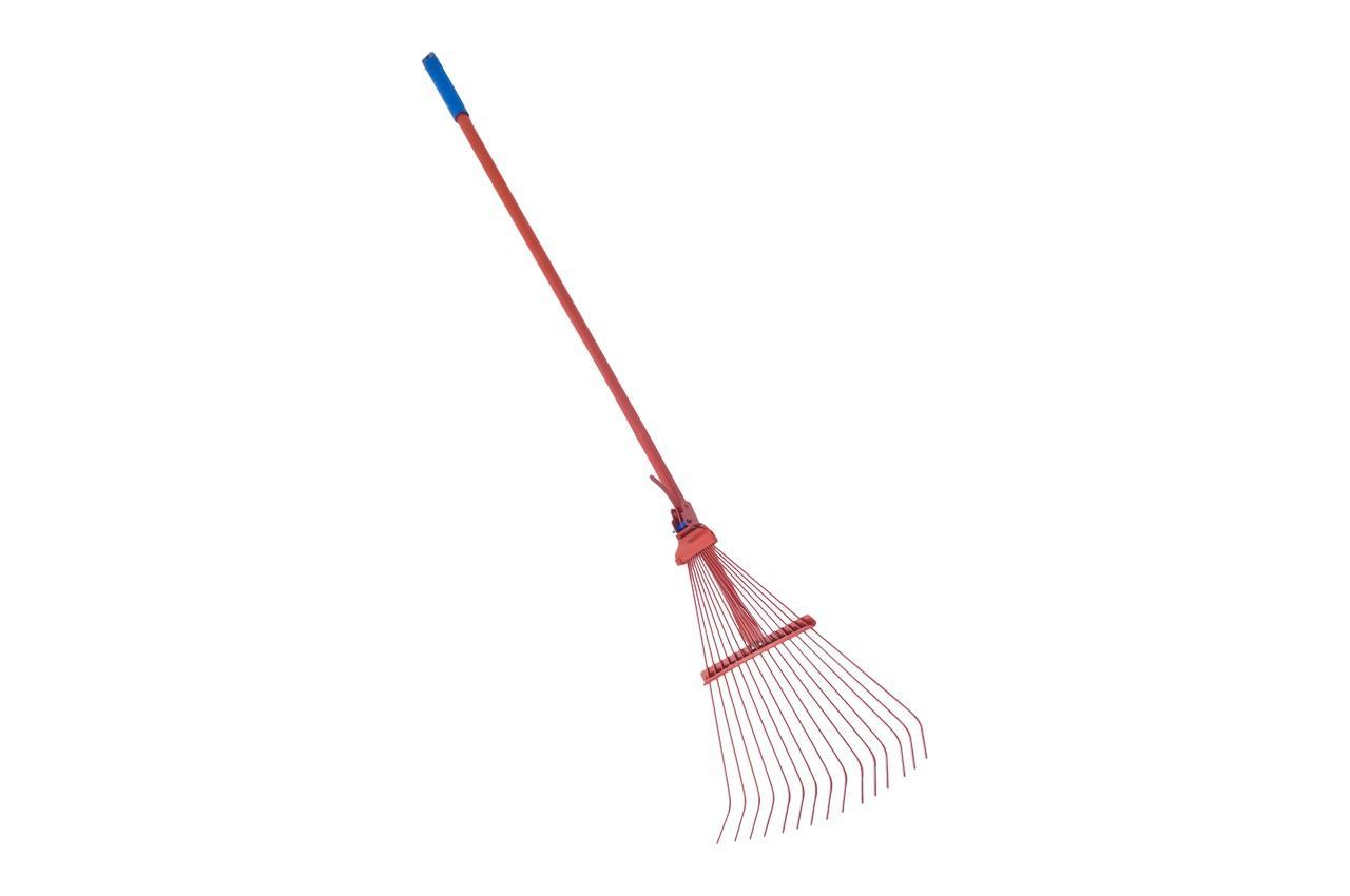 Грабли веерные ТМЗ - 15 прутьев, с ручкой цветные