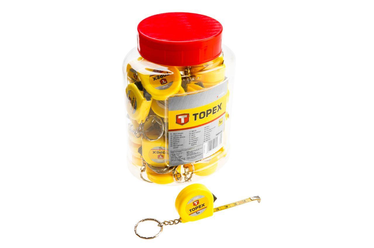 Рулетка Topex - 1 м, брелок