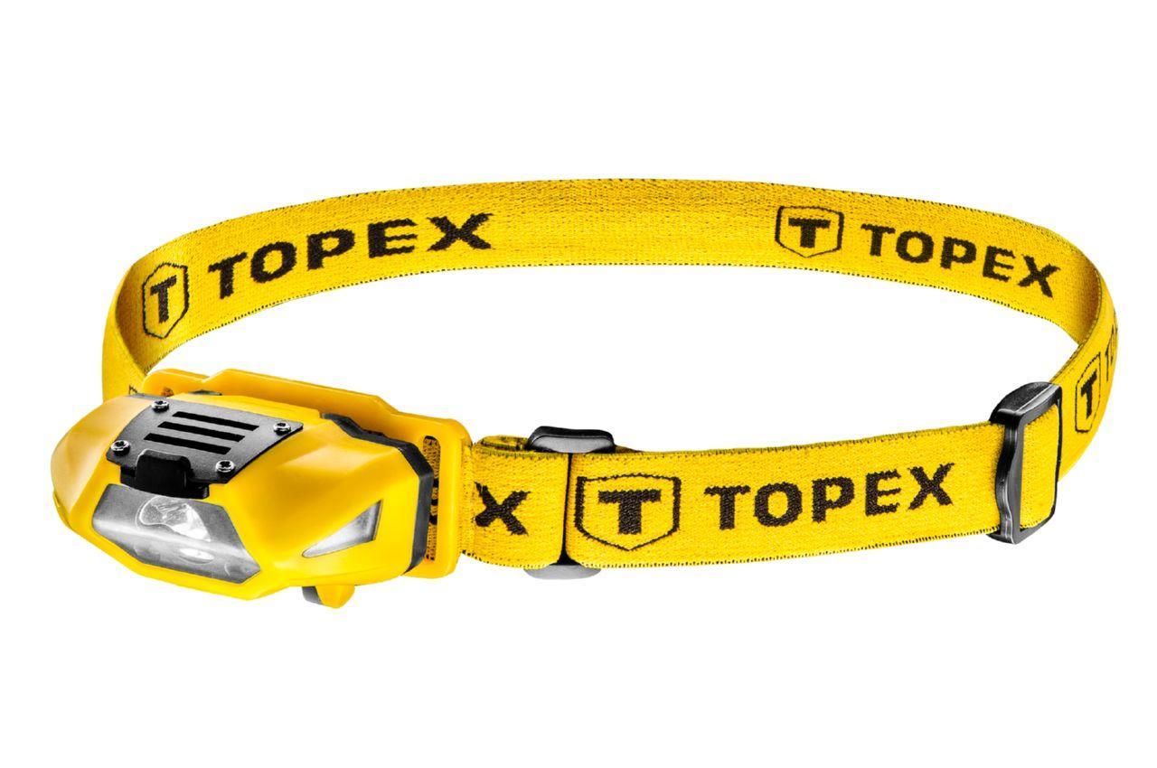 Фонарь налобный Topex - 3 LED x 1 Вт x 1AA, 94W390