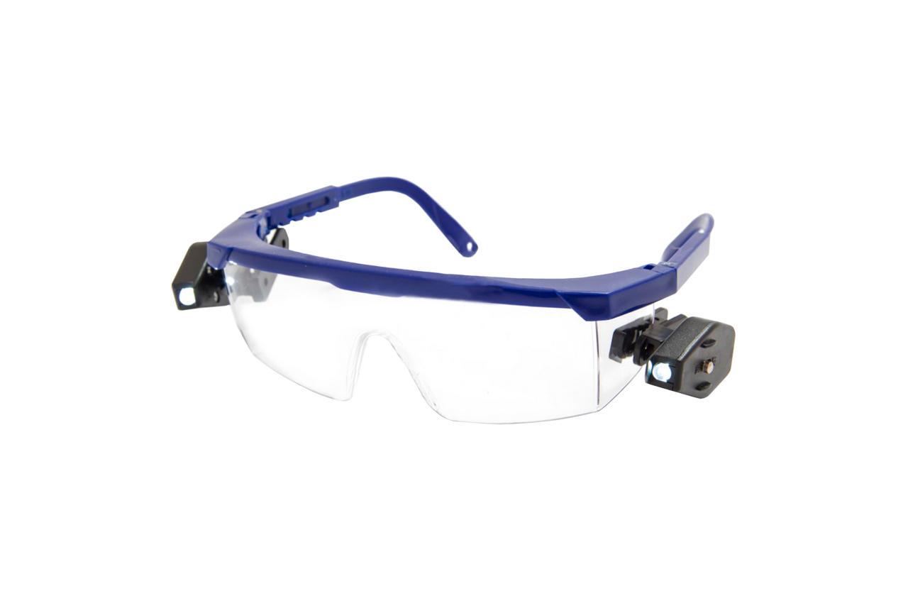 Очки защитные Vita - комфорт с 2 фонариками (прозрачные)