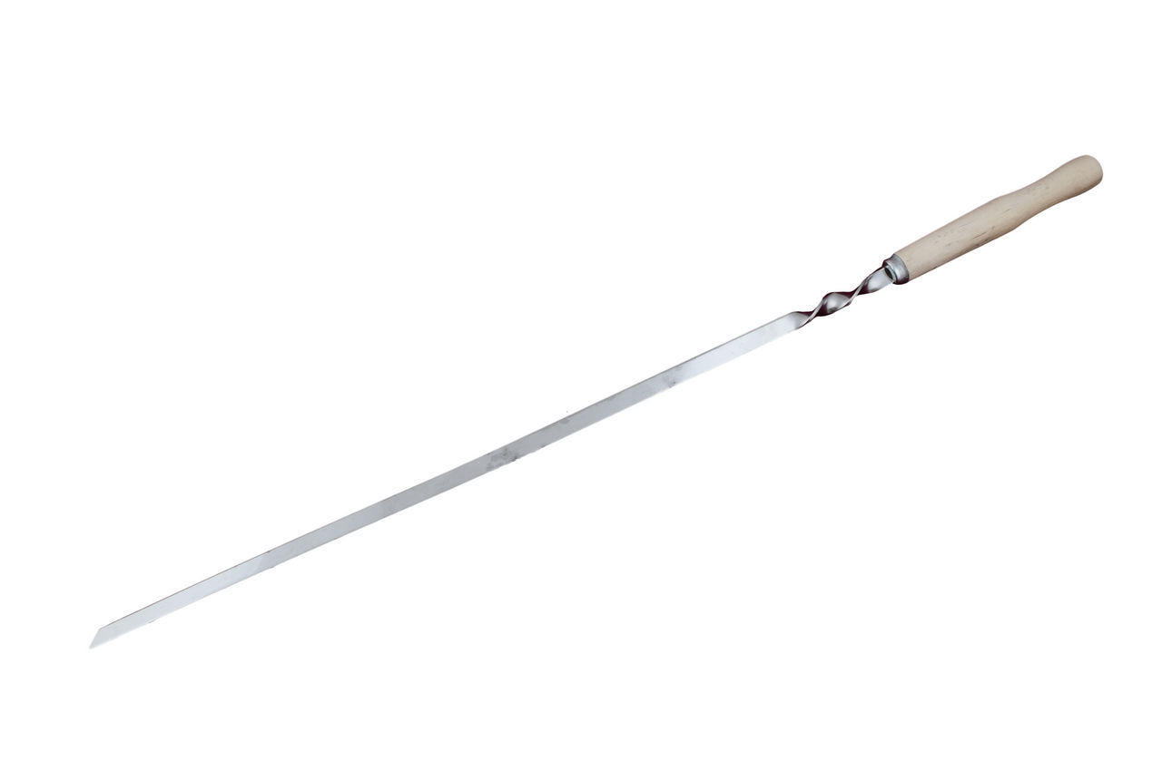 Набор шампуров DV - плоский деревянная ручка (6 шт.), Х081
