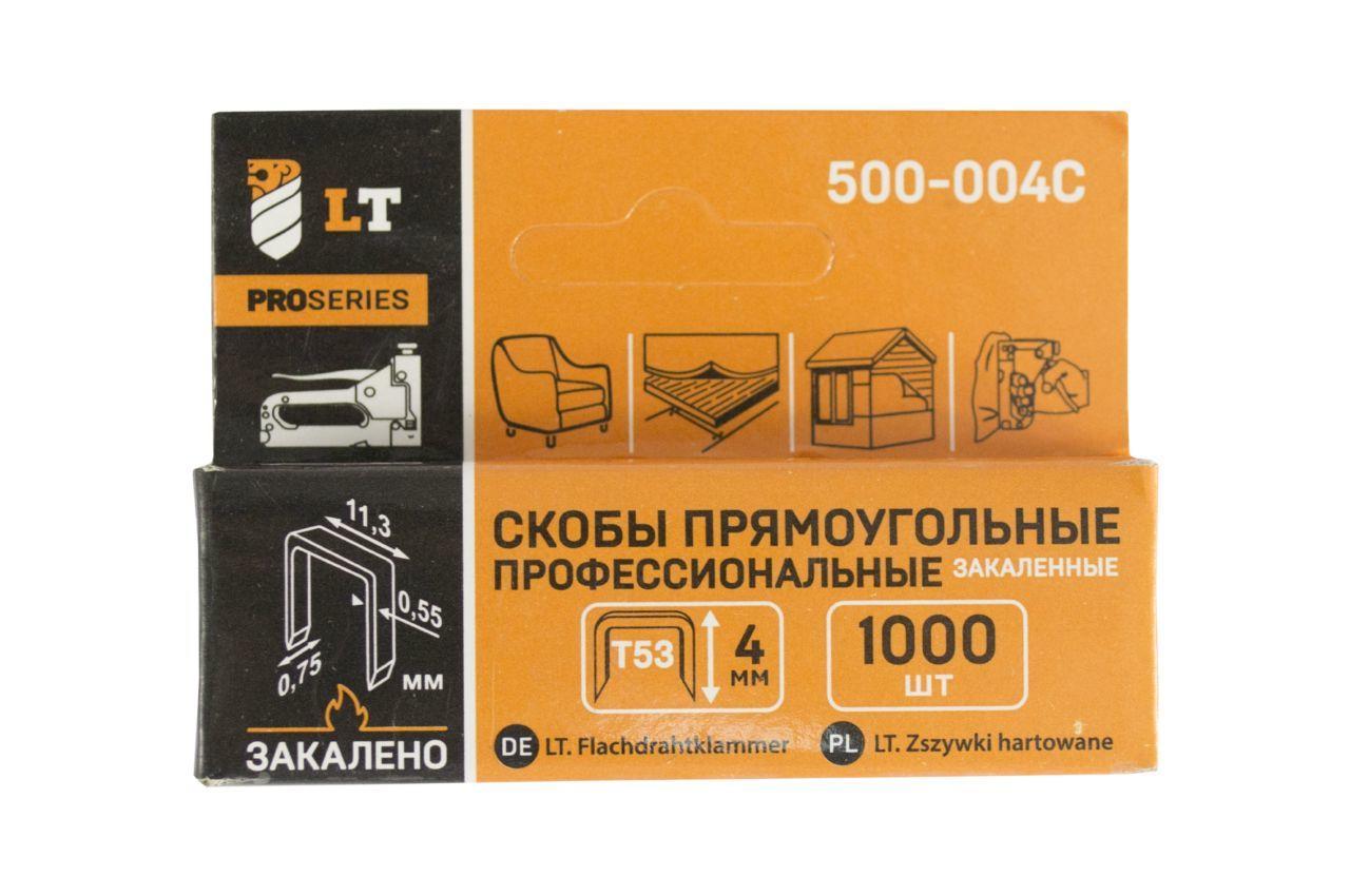Скоба LT - 6 x 0,7 x 11,3 мм каленая (1000 шт.) 500-006C