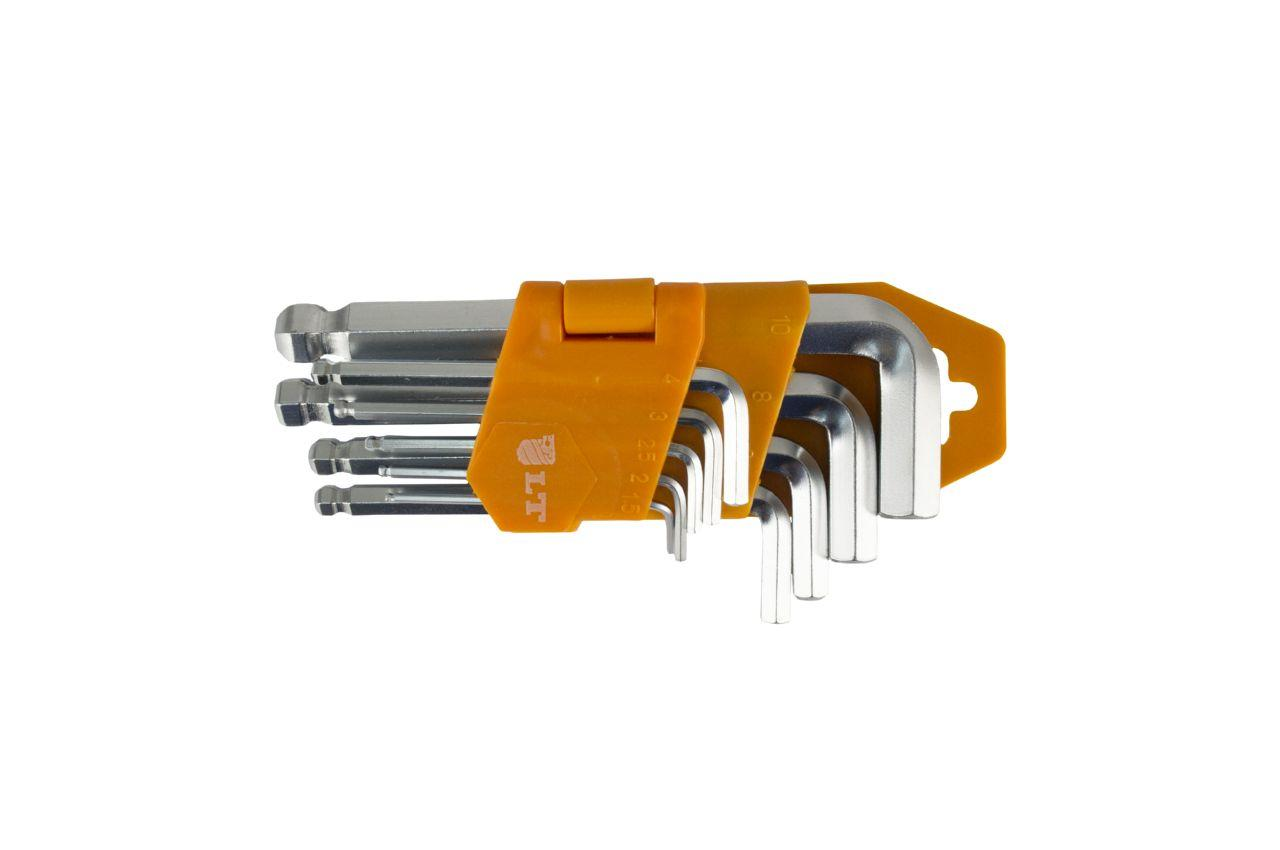 Набор шестигранных ключей LT - 9 шт. (1,5-10 мм) с шаром