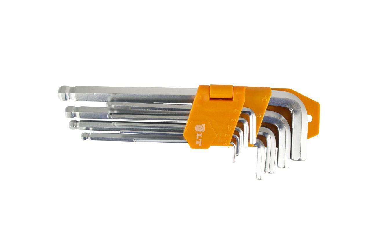 Набор шестигранных ключей LT - 9 шт. (1,5-10 мм) с шаром удлиненные