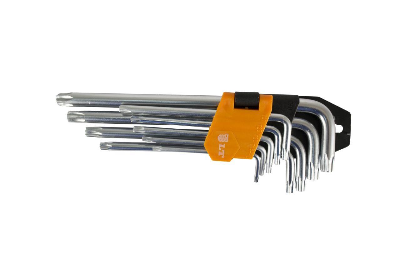 Набор Torx ключей LT - 9 шт. (T10-50 мм) удлиненные