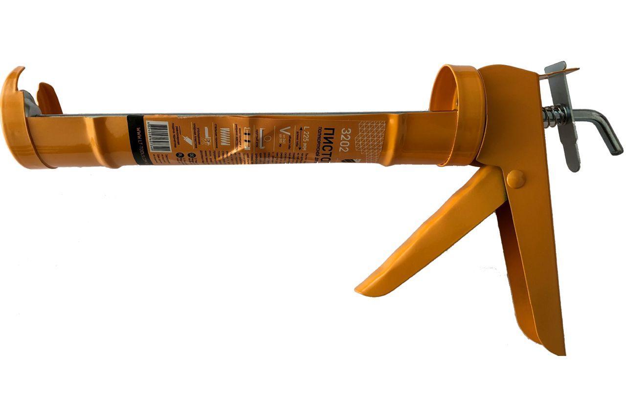 Пистолет для силикона LT - 225 мм сплошной