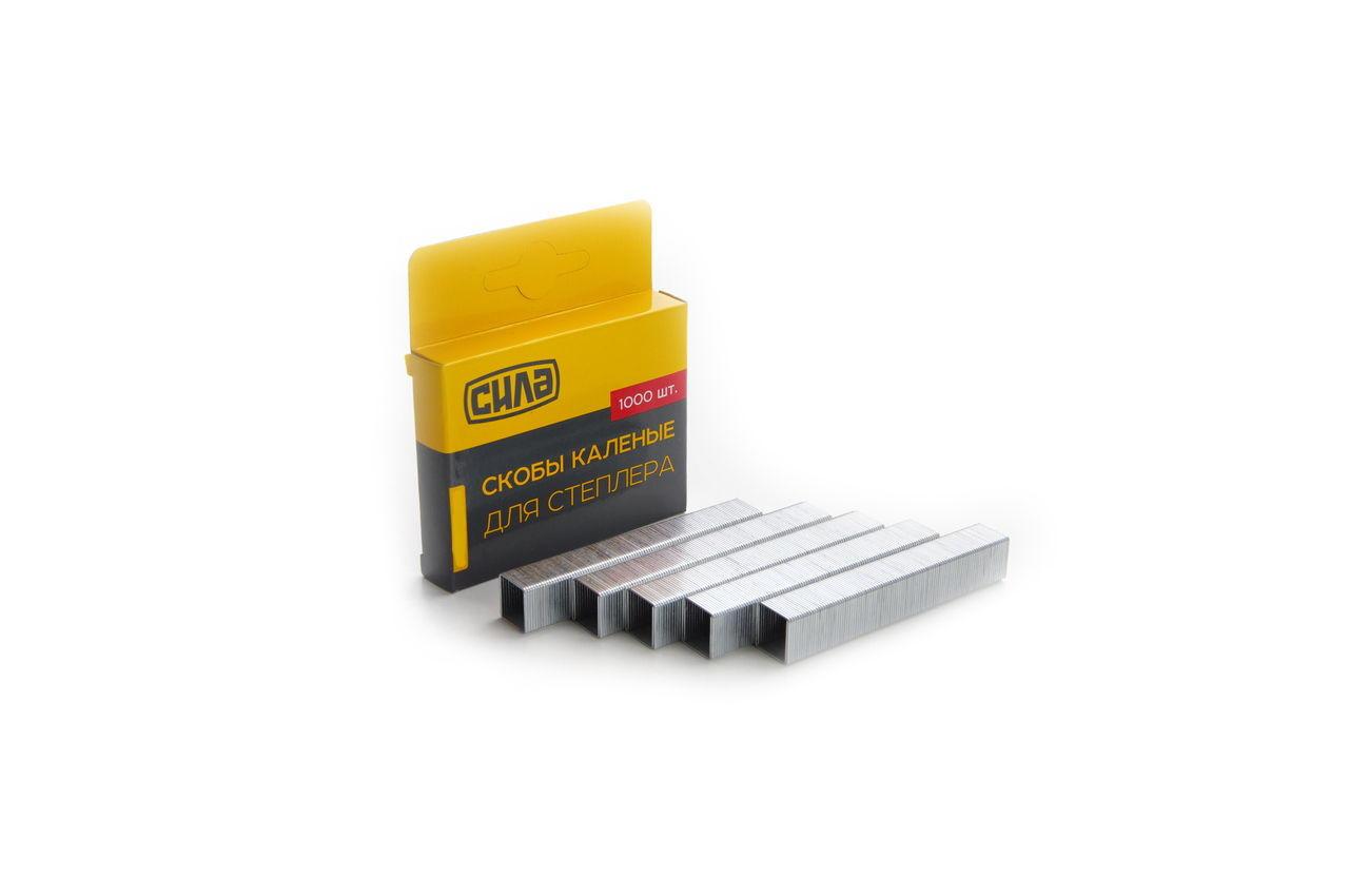 Скоба Сила - 12 x 0,7 x 11,3 мм каленая (1000 шт.) 680104