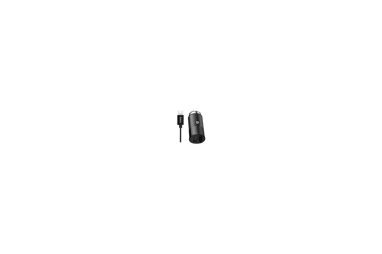 Автомобильное зарядное устройство Hoco - Z17 2USB x Lightning Black, 1-00351