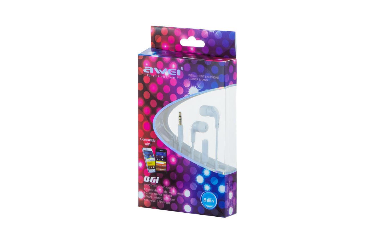 Наушники Awei - Q6i White, 3-00083_5