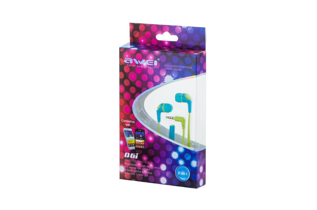 Наушники Awei - Q6i Blue, 3-00083_2