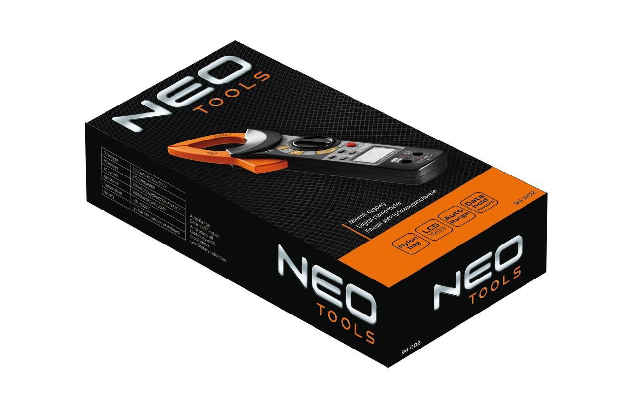 Клещи электроизмерительные NEO - амперметр, омметр, вольтметр