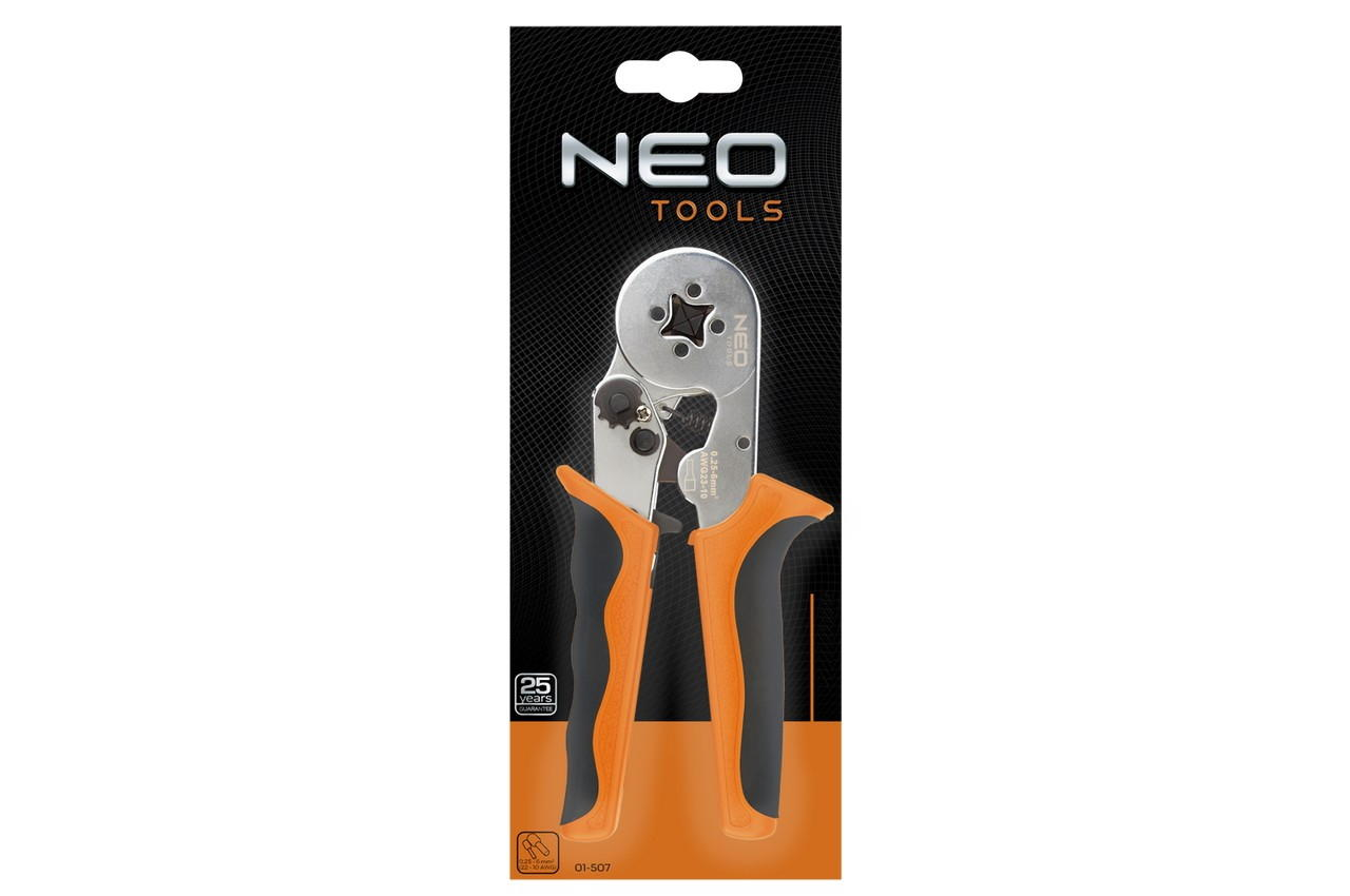 Клещи для обжима контактов NEO - 0,25-6 мм²