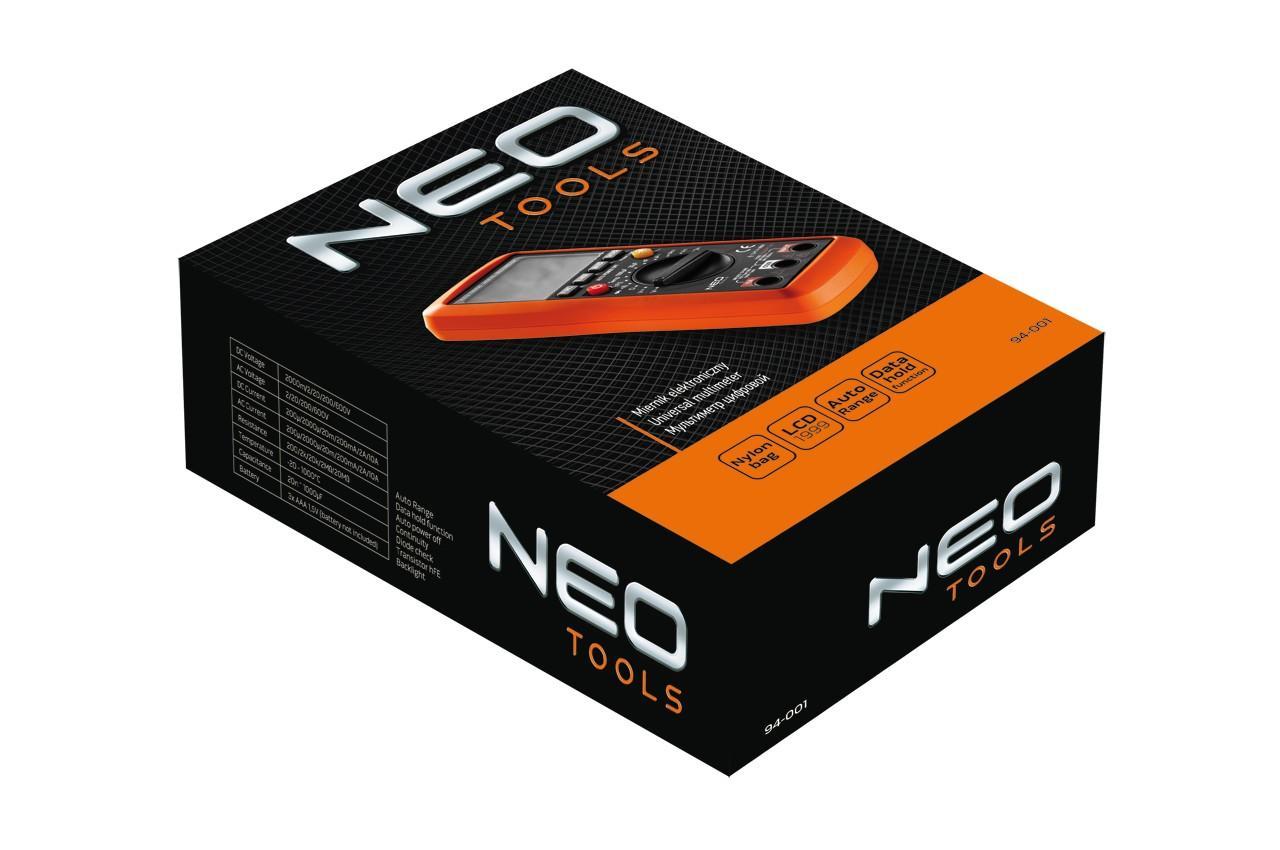 Мультиметр цифровой NEO - амперметр, омметр, вольтметр