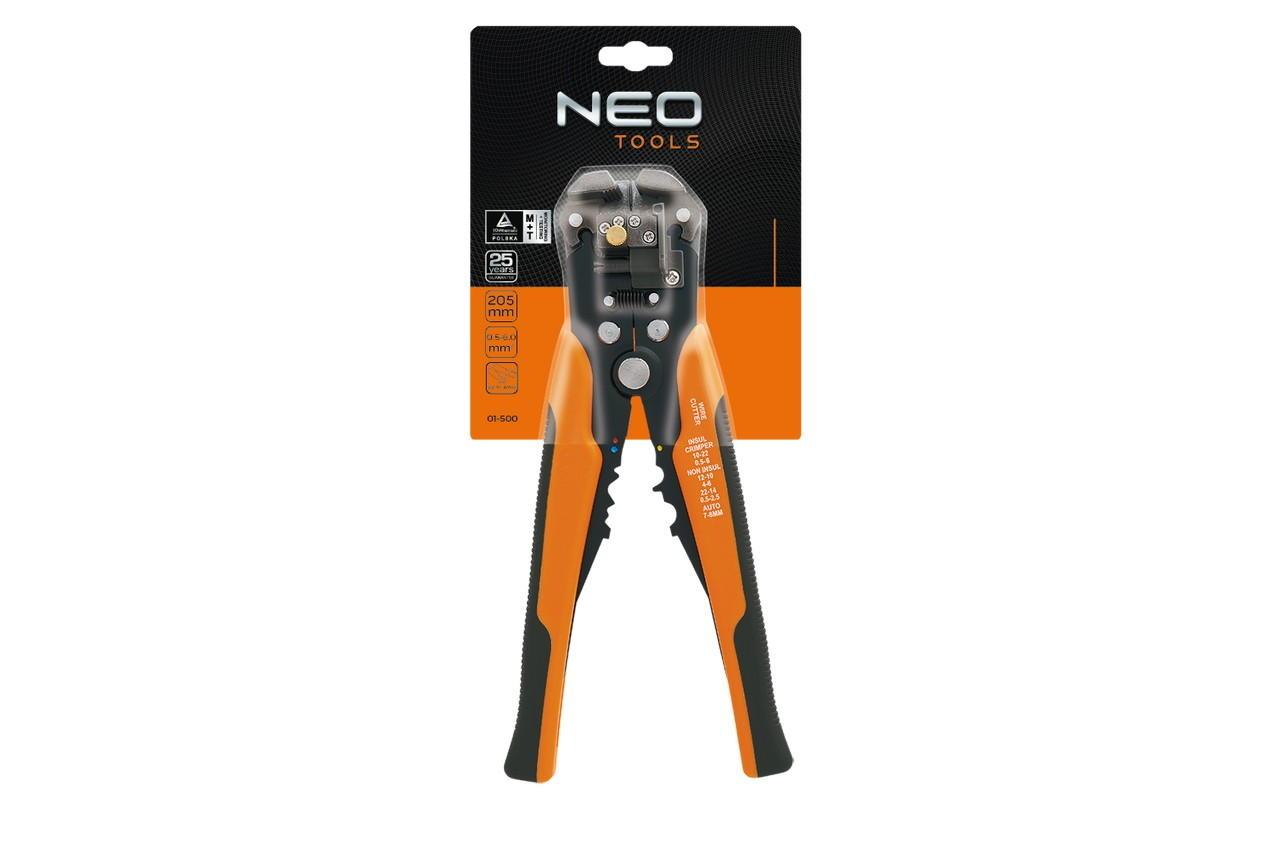 Съемник изоляциии NEO - 205 мм, автоматический 0,5-6 мм²