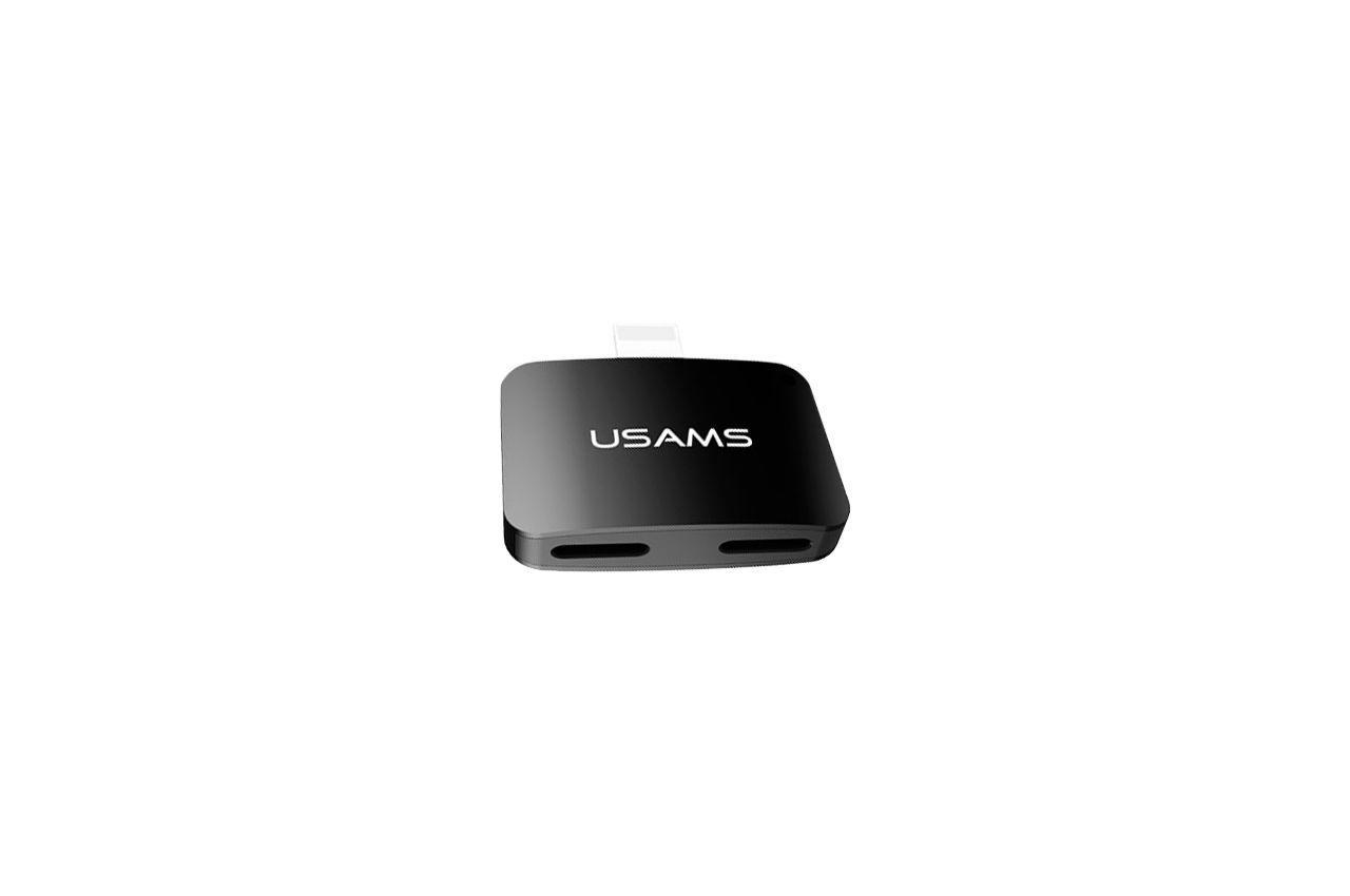 Адаптер Usams - US-SJ138 Lightning x Lightning / Lightning Black
