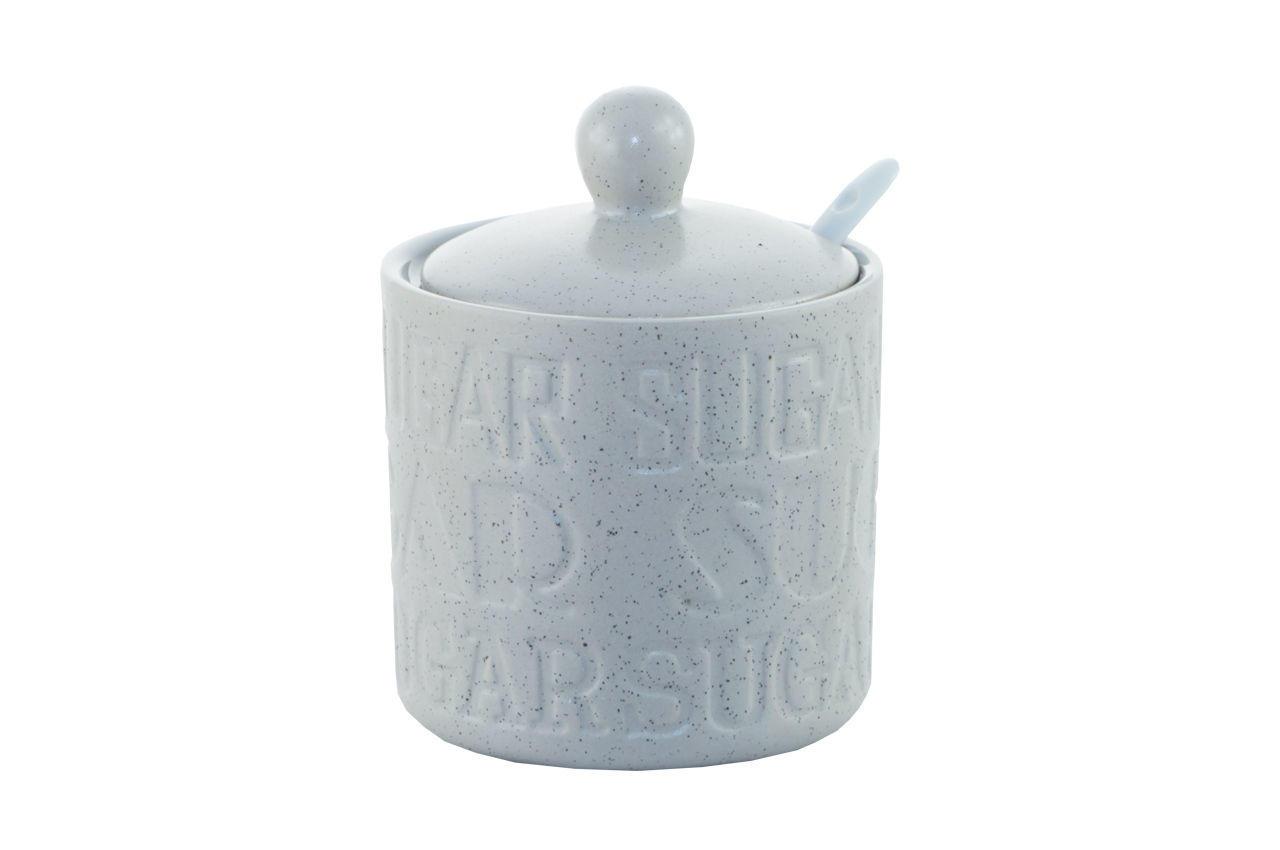 Сахарница с ложкой керамическая Maestro - 90 мм Stone, MR-20028-09