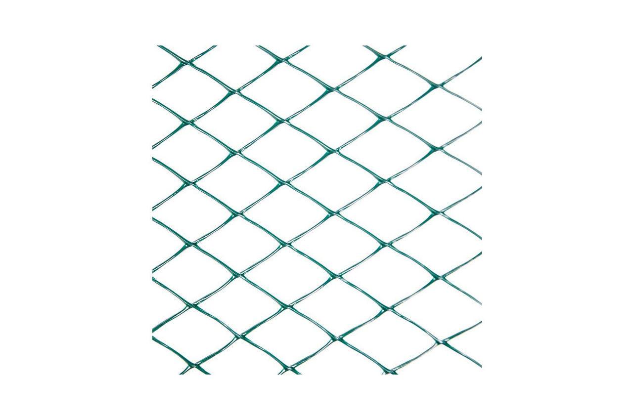 Сетка декоративная Клевер - 1,5 x 10 м (30 x 30 мм) т-зеленая, Д-30/1,5/10тз