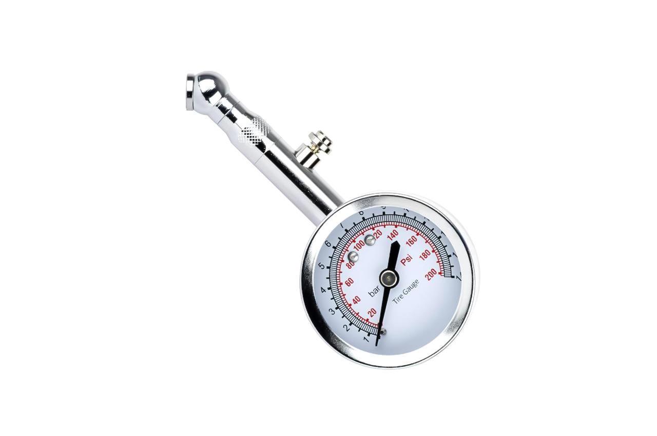 Измеритель давления в шинах Intertool - металлический, AT-1004