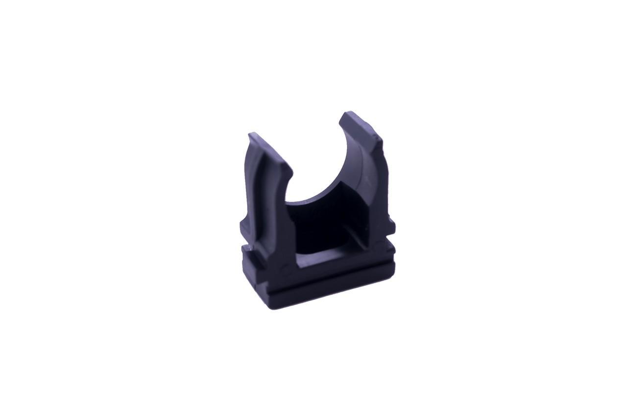 Клипса для гофры Apro - 16 мм черная (100 шт.)