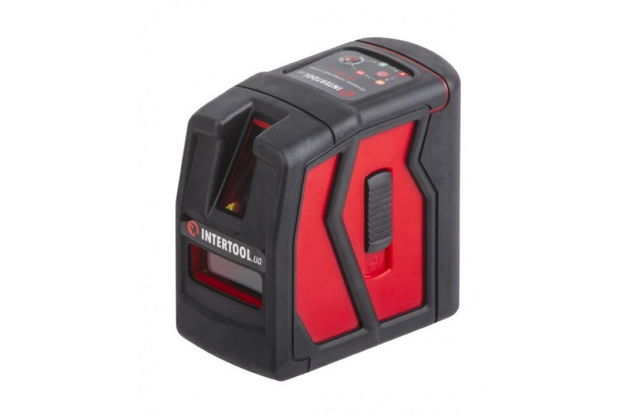 Уровень лазерный Intertool - 5 лазерных головок, звуковая индикация, зеленый лазер, MT-3008