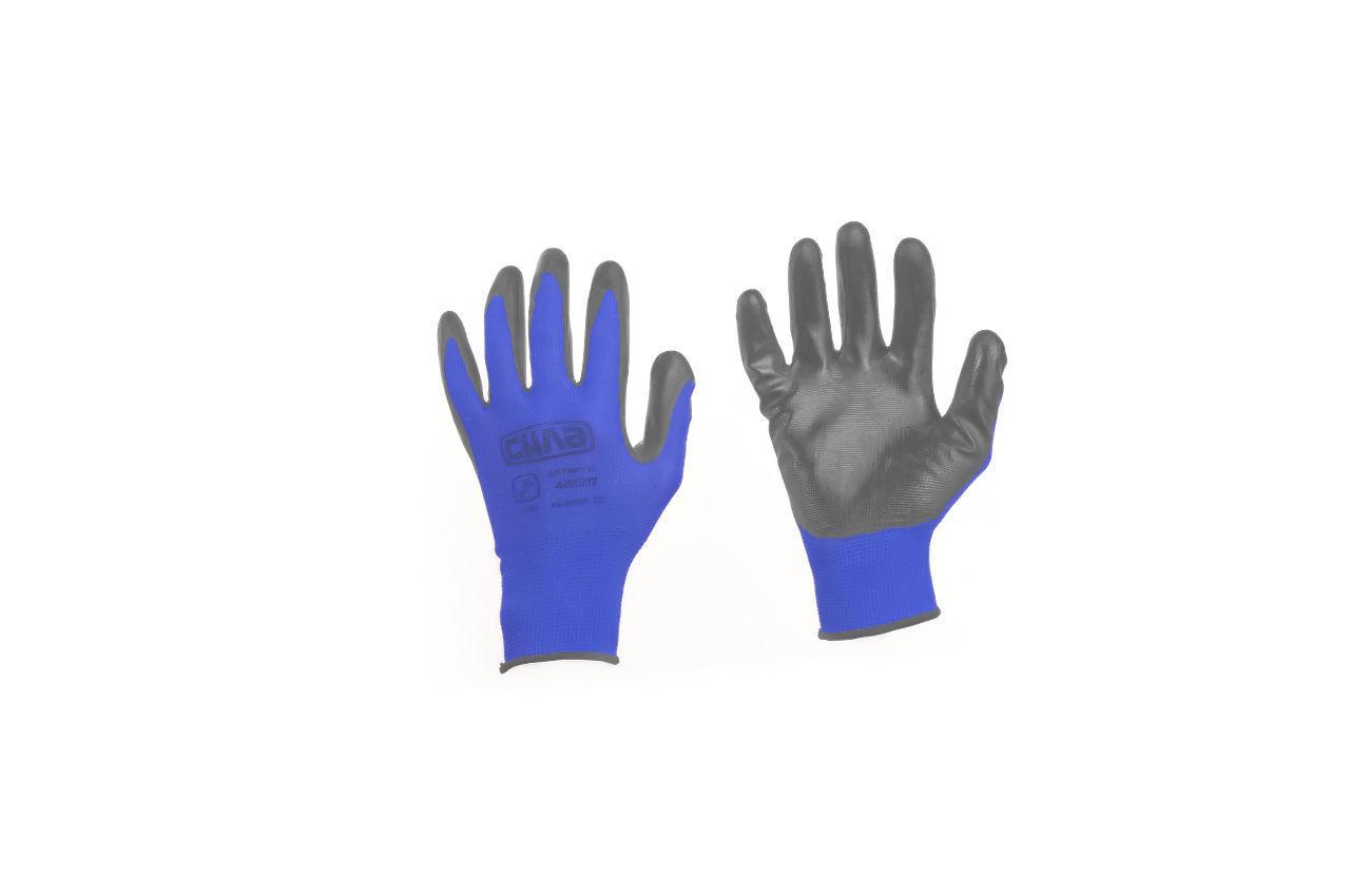 """Перчатки Сила - вспененные 10"""" (серо-синие) 12 шт."""