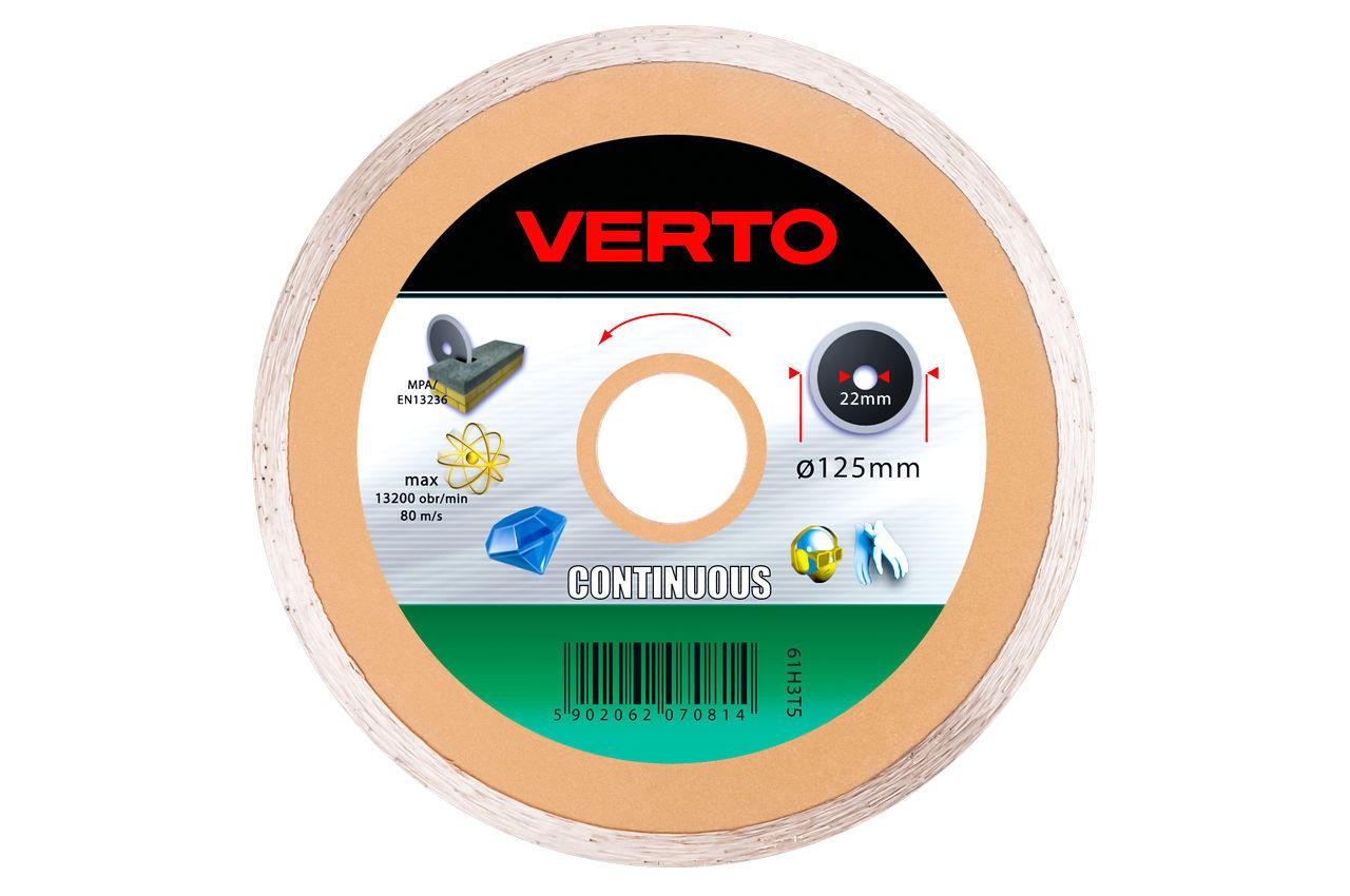 Диск алмазный Verto - 125 мм плитка