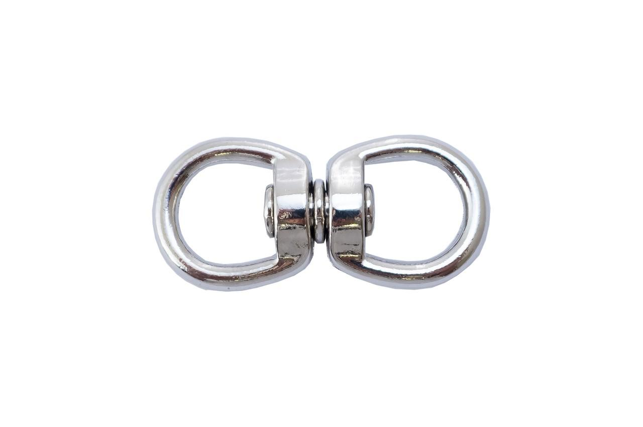 Вертлюг кольцо-кольцо Apro - 4 мм, никель