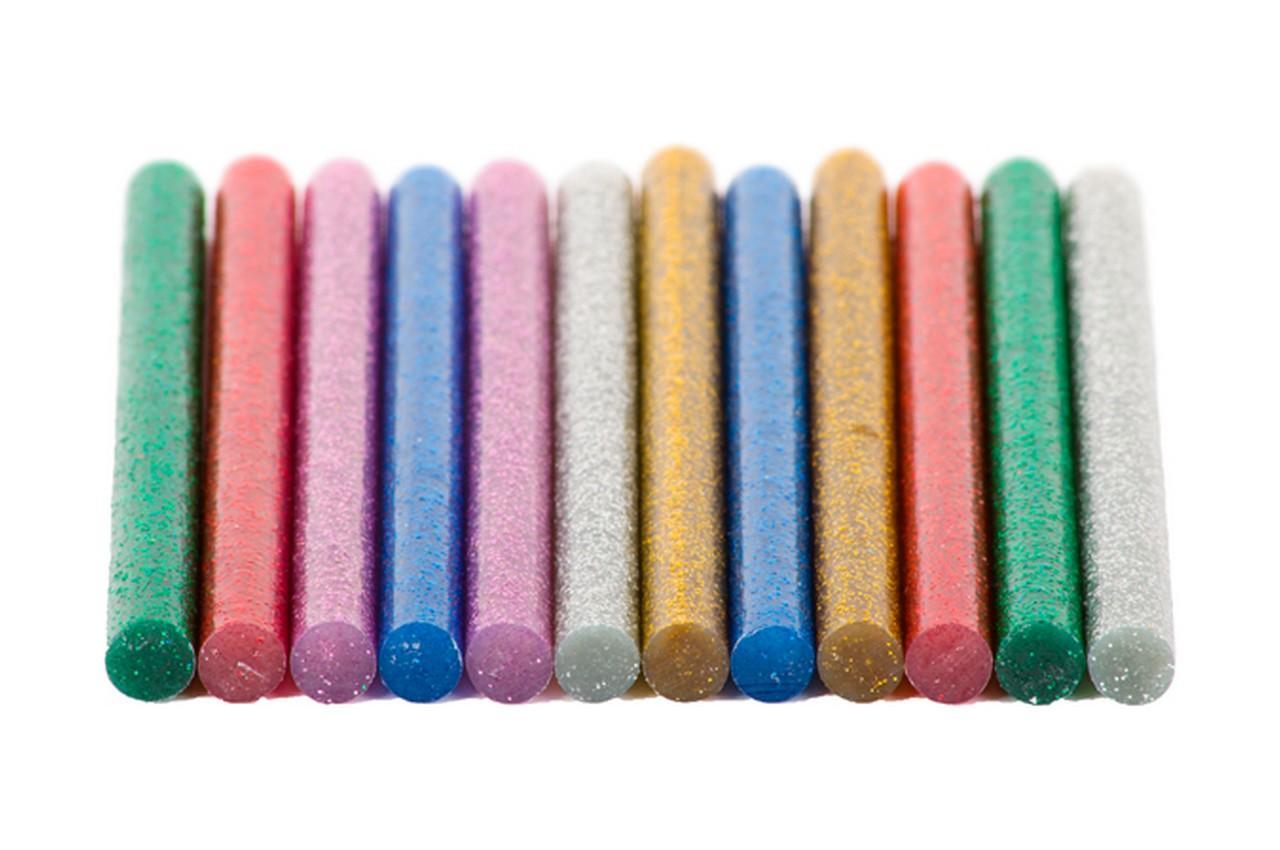 Клеевые стержни Intertool - 7,4 x 100 мм цветные перламутровые (12 шт.)