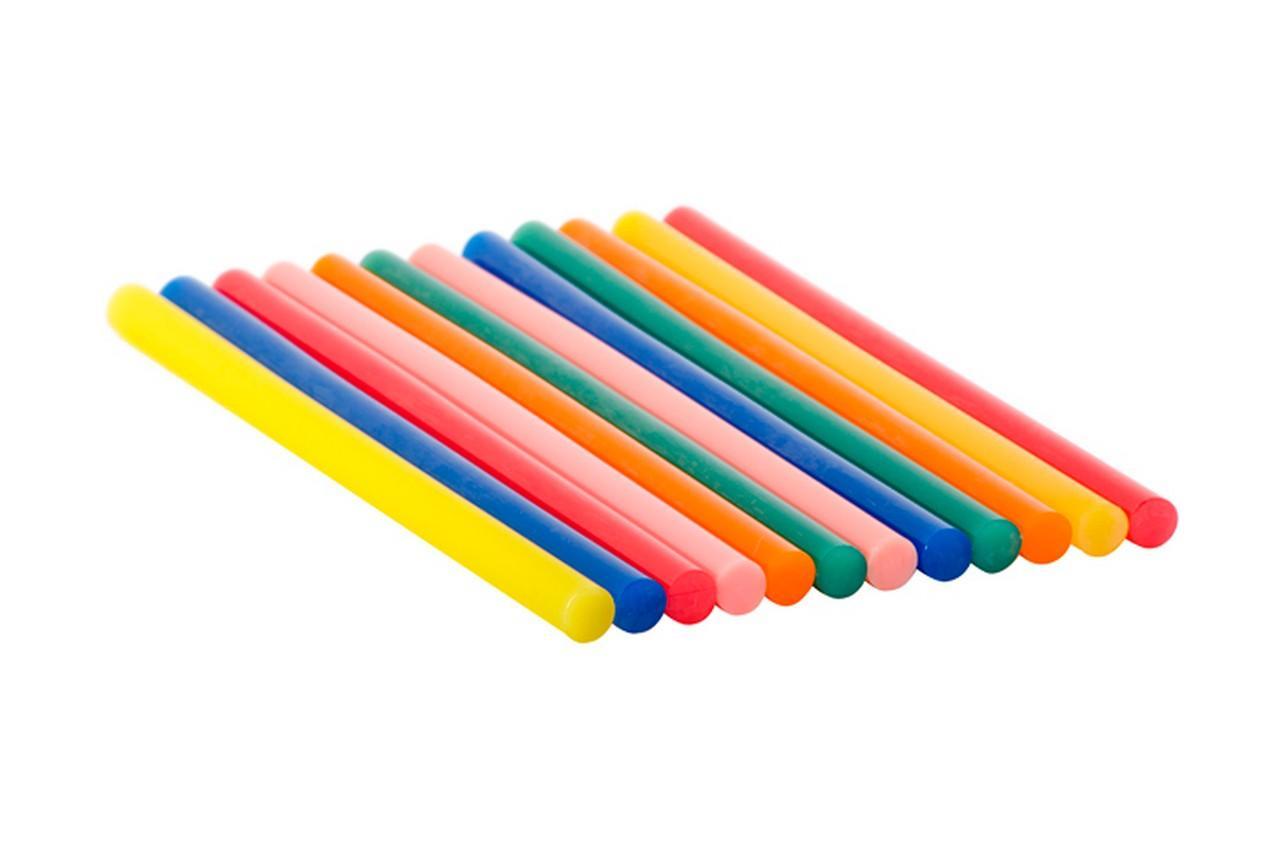 Клеевые стержни Intertool - 11,2 x 200 мм цветные (12 шт.)