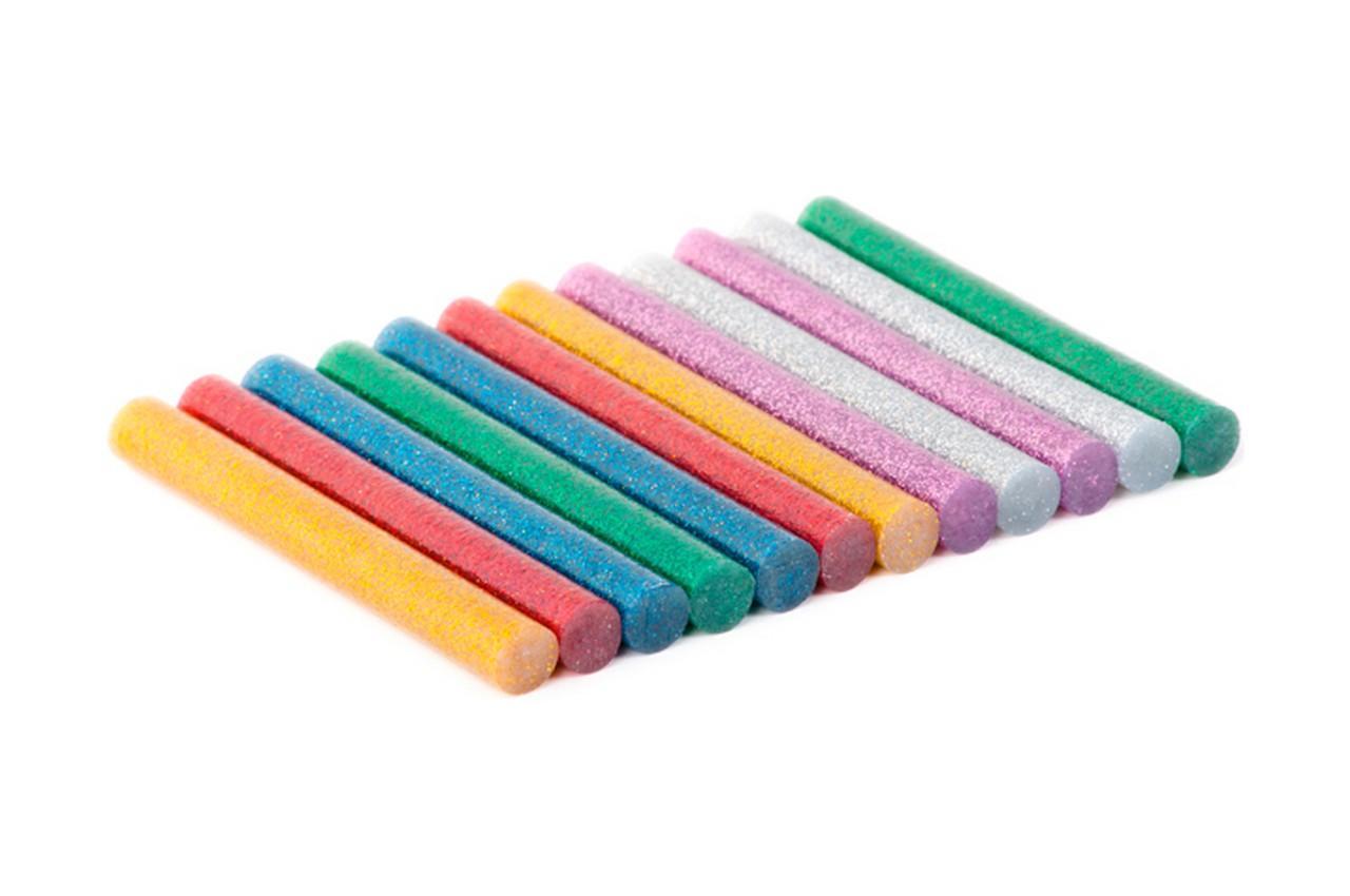 Клеевые стержни Intertool - 11,2 x 100 мм цветные перламутровые (12 шт.)
