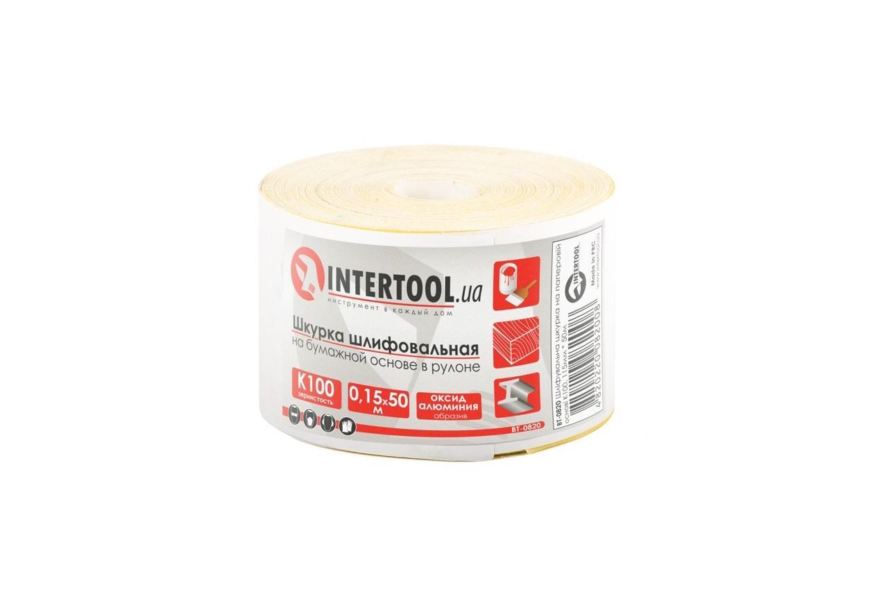 Шлифовальная шкурка Intertool - 115 мм x 50 м x P100 бумага