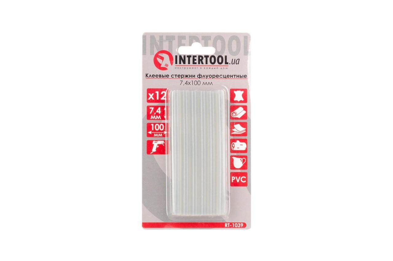 Клеевые стержни Intertool - 7,4 x 100 мм флуоресцентные (12 шт.)