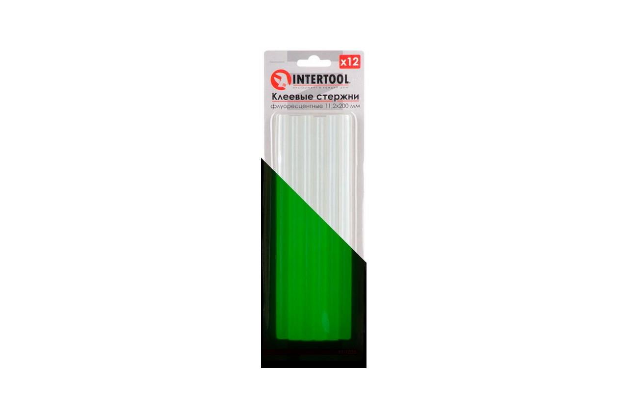 Клеевые стержни Intertool - 11,2 x 200 мм флуоресцентные (12 шт.)