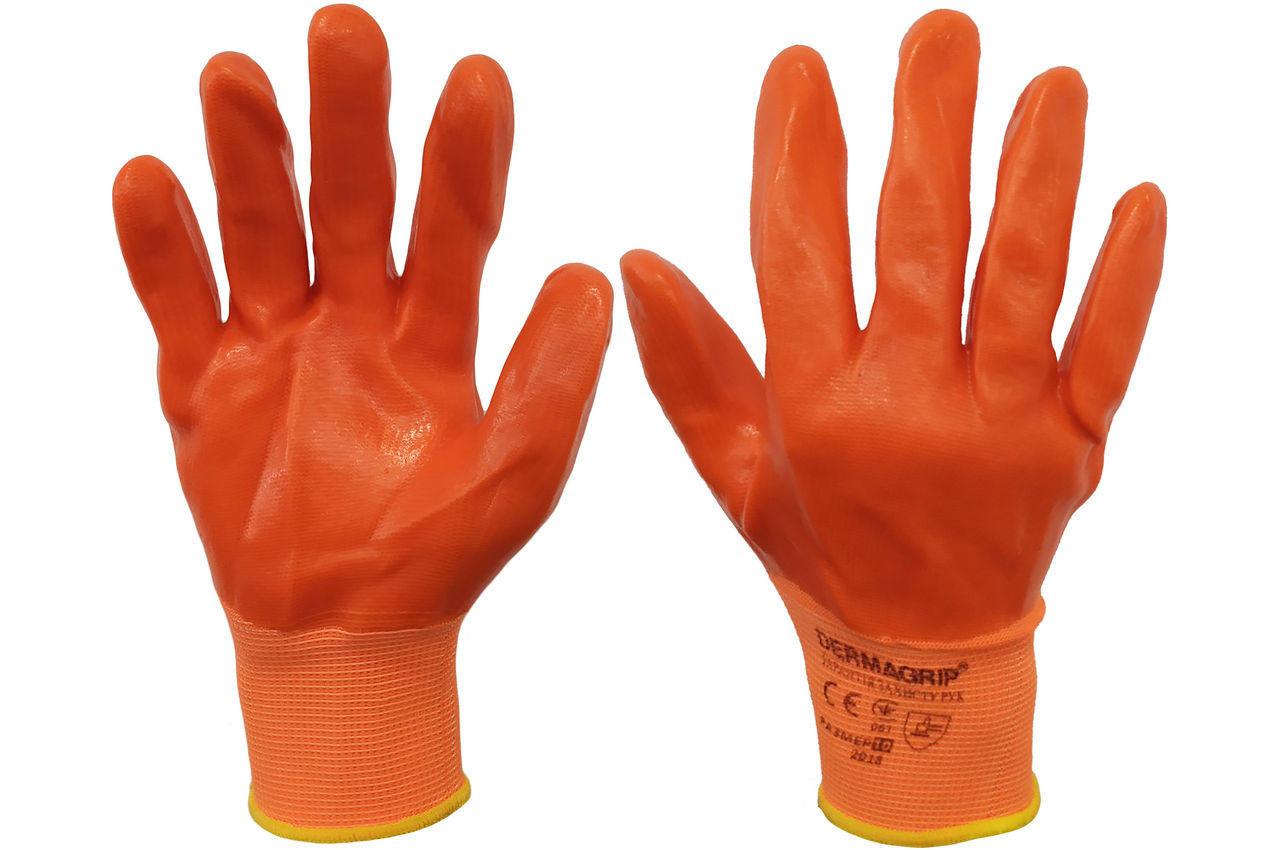 """Перчатки PRC - 10"""" силиконовые оранжевые 100 г 6 шт."""