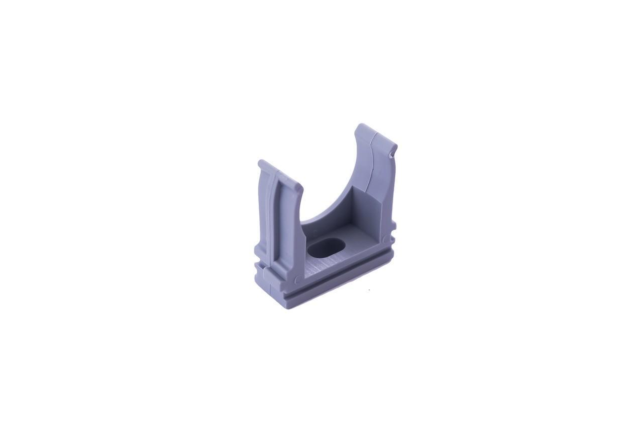 Клипса для гофры Apro - 25 мм серая (50 шт.)