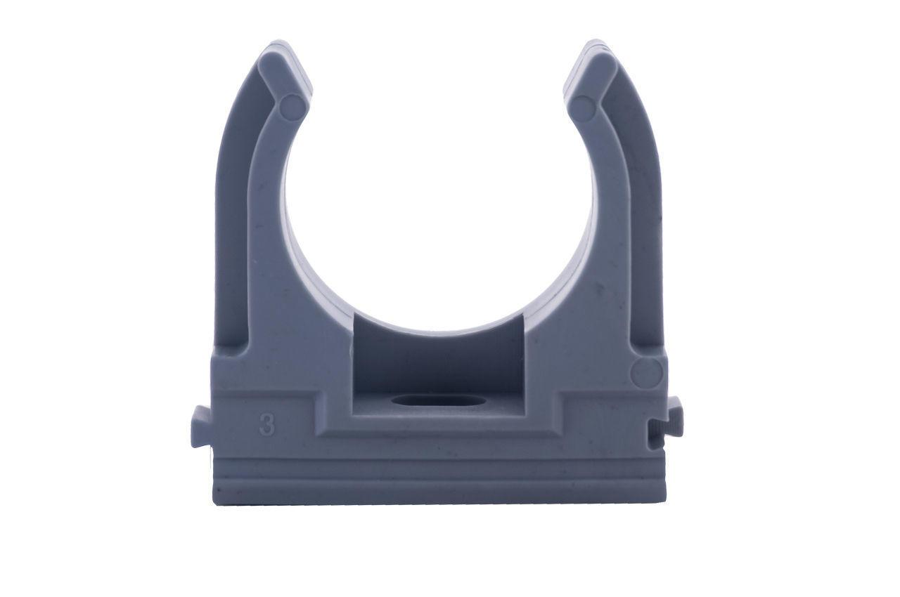 Клипса для гофры Apro - 32 мм серая (50 шт.)