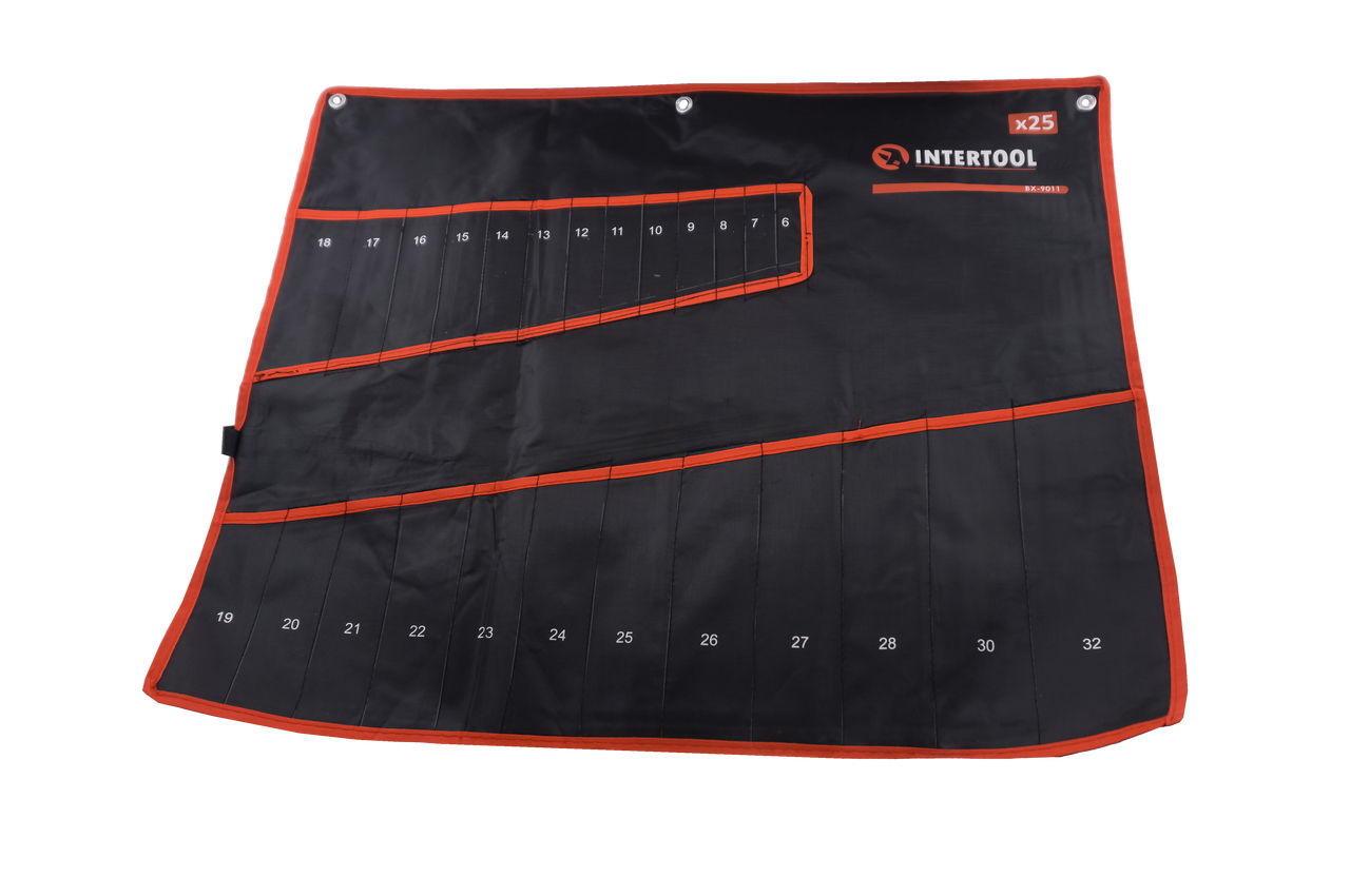 Чехол для гаечных ключей Intertool - 25 карманов 460 x 680 мм, BX-9011