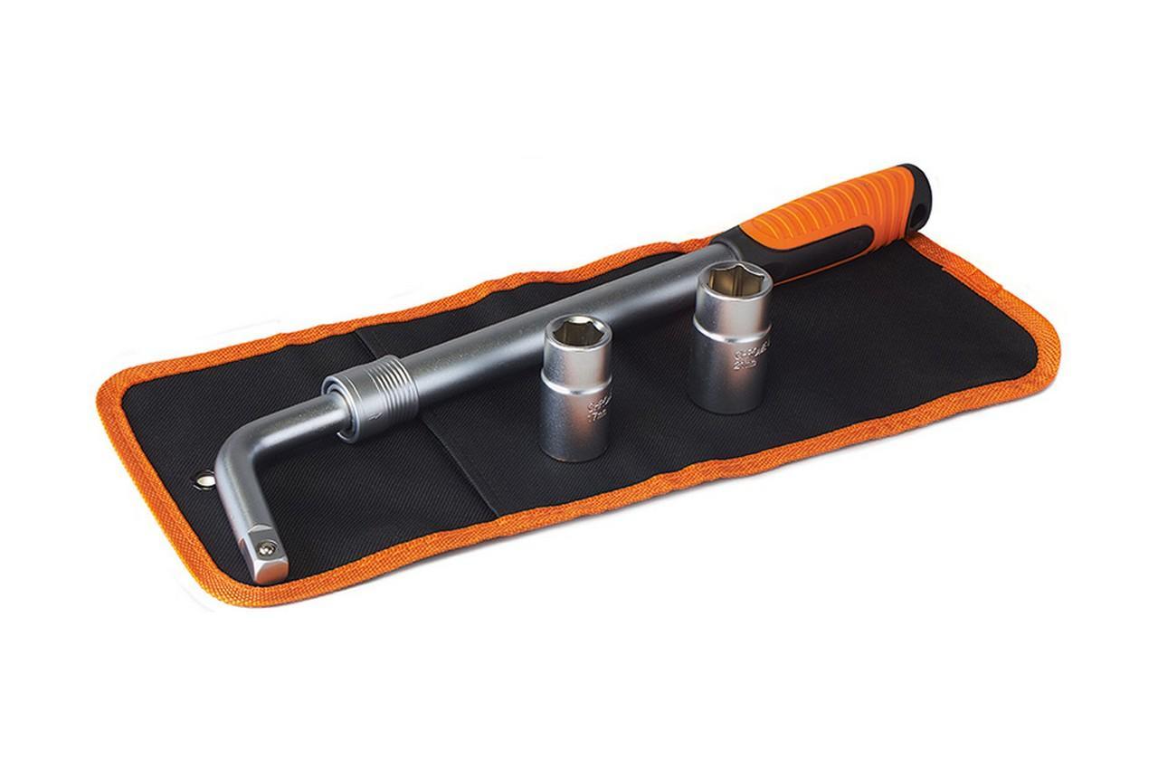 Ключ баллонный L-образный Miol - 17 x 19 мм и 21 x 23 мм, телескопический